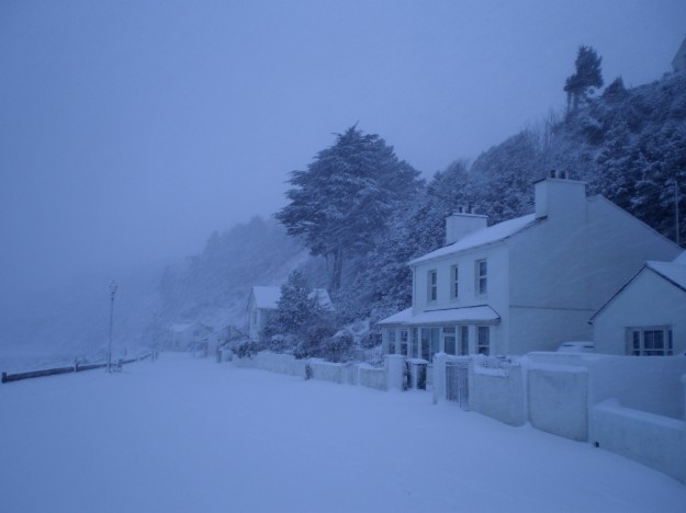Promenade in snow